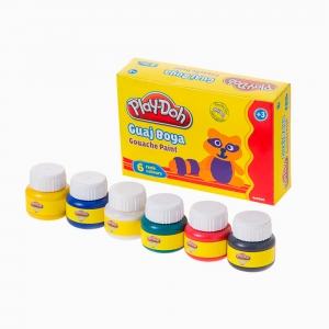 Play Doh - Play-Doh 6'lı Guaj Boya Seti PLAY-GU001 0574 (1)