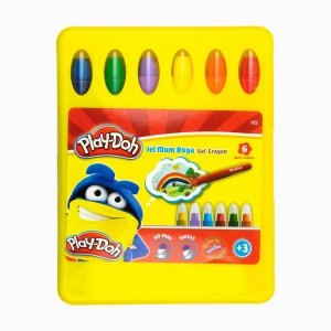 Play Doh - Play-Doh 6'lı Jel Mum Boya Seti PLAY-CR015 2534