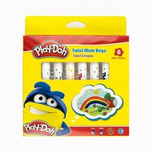 Play Doh - Play-Doh 6'lı Twist Mum Boya Seti PLAY-CR007 3001