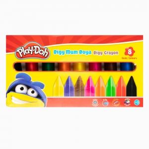 Play Doh - Play-Doh 8'li Bigy Mum Boya Seti PLAY-CR012 8686