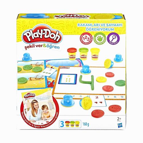 Play-Doh Rakamları ve Saymayı Öğreniyorum Kalıp ve Oyun Hamuru B3406 5436