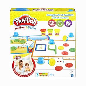 Play Doh - Play-Doh Rakamları ve Saymayı Öğreniyorum Kalıp ve Oyun Hamuru B3406 5436