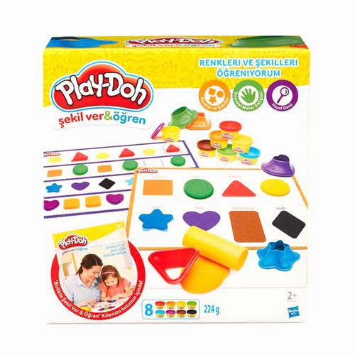 Play-Doh Renkleri ve Şekilleri Öğreniyorum Oun Hamuru ve Kalıpları B3404 5313