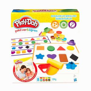 Play Doh - Play-Doh Renkleri ve Şekilleri Öğreniyorum Oun Hamuru ve Kalıpları B3404 5313