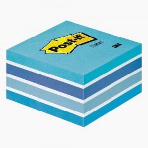 Post-it - Post-it 450'li Küp Yapışkanlı Not Kağıdı Mavi Tonları 2028-B 2792