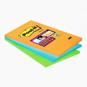 Post-it - Post-it Super Sticky 3 Renk Yapışkanlı Not Kağıdı 4645-3SSAN 6133