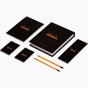 Rhodia - Rhoda Essential Box Set Çizgili Siyah 0191