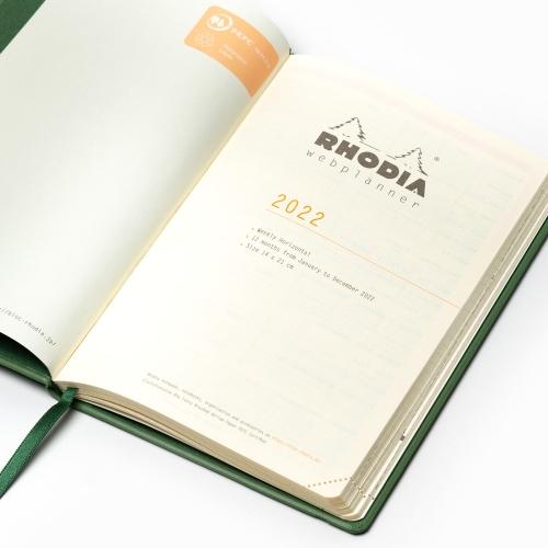 Rhodia 2022 Haftalık Ajanda Yatay Kullanım Siyah 9512