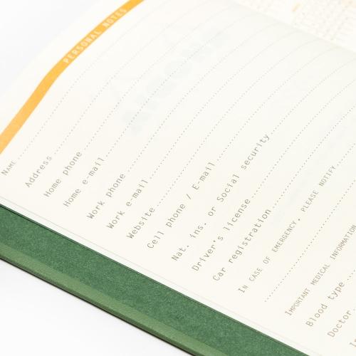 Rhodia 2022 Haftalık Ajanda Yatay Kullanım Yeşil 0891