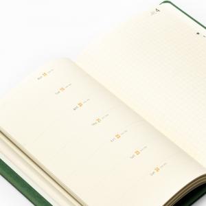 Rhodia 2022 Haftalık Ajanda Yatay Kullanım Yeşil 0891 - Thumbnail