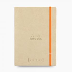 Rhodia - Rhodia Goalbook A5 Kareli Defter Beige 7655