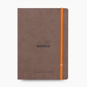 Rhodia - Rhodia Goalbook A5 Kareli Defter Chocolate 7631