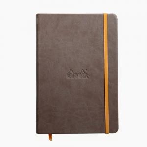 Rhodia - Rhodia Hardcover Deri Kapak A5 Çizgili Defter Kahve 7432