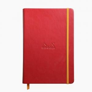 Rhodia - Rhodia Hardcover Deri Kapak A5 Çizgili Defter Kırmızı 7531
