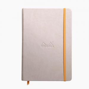 Rhodia - Rhodia Hardcover Deri Kapak A5 Çizgisiz Defter Bej 7258