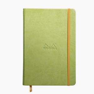 Rhodia - Rhodia Hardcover Deri Kapak A5 Çizgisiz Defter Yeşil 7265