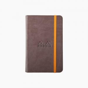 Rhodia - Rhodia Hardcover Deri Kapak A6 Çizgisiz Defter Kahve 6237