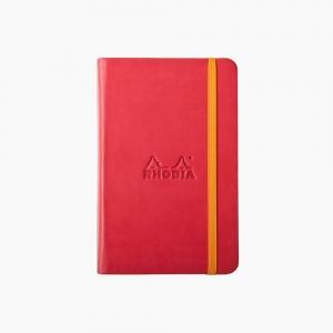Rhodia - Rhodia Hardcover Deri Kapak A6 Çizgisiz Defter Kırmızı 6336