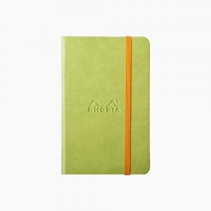 Rhodia - Rhodia Hardcover Deri Kapak A6 Çizgisiz Defter Yeşil 6268