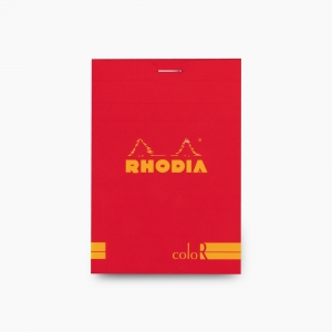 Rhodia - Rhodia No:12 Color Pad 8.5 X 12 cm Çizgili Not Defteri Kırmızı 9730