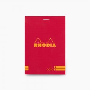 Rhodia - Rhodia No:12 Color Pad 8.5 X 12 cm Çizgili Not Defteri Poppy 9723