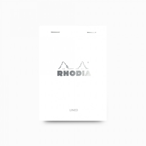 Rhodia - Rhodia No:13 Pad Çizgili Not Defteri A6 Beyaz 6011