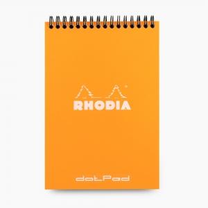 Rhodia No:16 Dotpad (Noktalı) Telli Not Defteri A5 Turuncu 5035 - Thumbnail