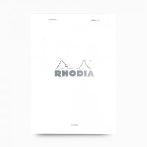 Rhodia - Rhodia No:16 Pad Çizgili Not Defteri A5 Beyaz 6018