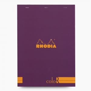 Rhodia - Rhodia No:18 Color Pad A4 Çizgili Not Defteri Mor 9703