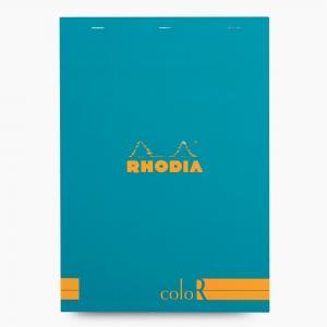 Rhodia - Rhodia No:18 Color Pad A4 Çizgili Not Defteri Turkuaz 9673