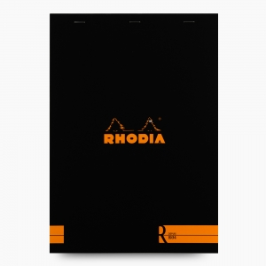 Rhodia - Rhodia No:18 Depius 1934 Pad A4 Çizgisiz Not Defteri Siyah 0087