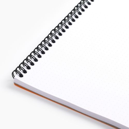 Rhodia No:18 Dotpad (Noktalı) Telli Not Defteri A4 Turuncu 5033