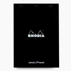 Rhodia - Rhodia No:18 Dotpad (Noktalı) Not Defteri A4 Siyah 5590