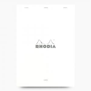 Rhodia - Rhodia No:18 Pad Çizgili Not Defteri A4 Beyaz 6016