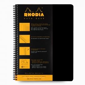 Rhodia - Rhodia Note Book A4 Telli Kareli Akademik Defter Siyah 0090