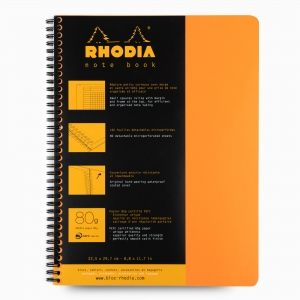 Rhodia - Rhodia Note Book A4 Telli Kareli Akademik Defter Turuncu 0083