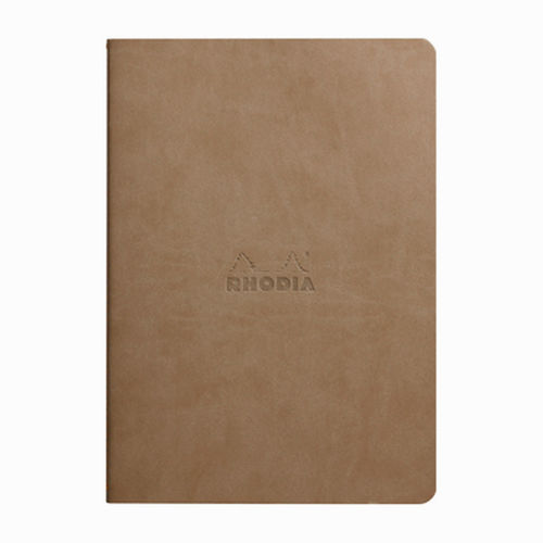 Rhodia Sewn Spin A5 İplik Dikiş Çizgili Defter Taupe 116404C 4044