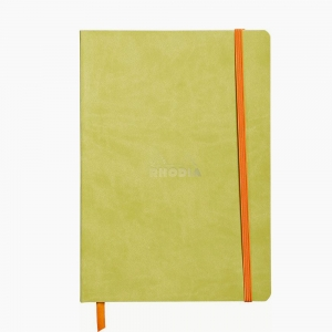 Rhodia - Rhodia Softcover Deri Kapak A5 Çizgili Defter Yeşil 4067