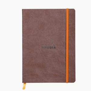 Rhodia - Rhodia Softcover Deri Kapak A5 Dot (Noktalı) Defter Kahve 4531