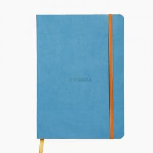 Rhodia - Rhodia Softcover Deri Kapak A5 Dot (Noktalı) Defter Turkuaz 4579