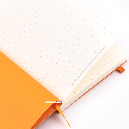 Rhodia Softcover Deri Kapak A6 Dot (Noktalı) Defter Orange 3657