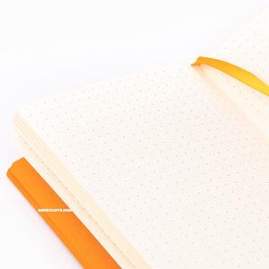 Rhodia Softcover Deri Kapak A6 Dot (Noktalı) Defter Orange 3657 - Thumbnail