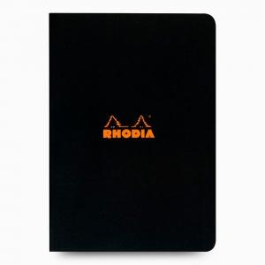 Rhodia - Rhodia Stapled A4 Kareli Defter Siyah 1637