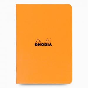Rhodia - Rhodia Stapled A4 Kareli Defter Turuncu 1644