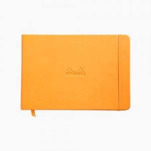 Rhodia - Rhodia Webnotebook Hardcover Deri Kapak A5 Çizgili Defter Turuncu 2482
