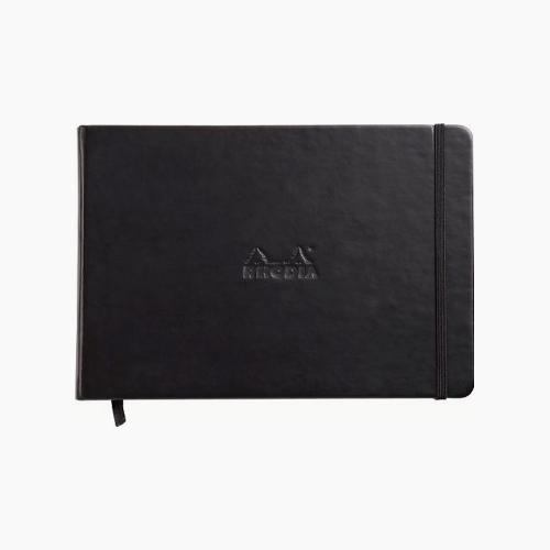 Rhodia Webnotebook Hardcover Deri Kapak A5 Çizgisiz Defter Siyah 1799