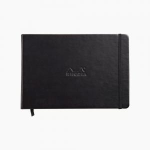 Rhodia - Rhodia Webnotebook Hardcover Deri Kapak A5 Çizgisiz Defter Siyah 1799