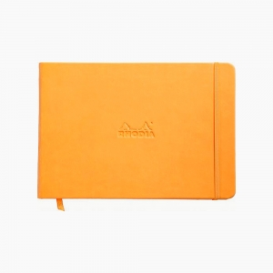 Rhodia - Rhodia Webnotebook Hardcover Deri Kapak A5 Çizgisiz Defter Turuncu 1782