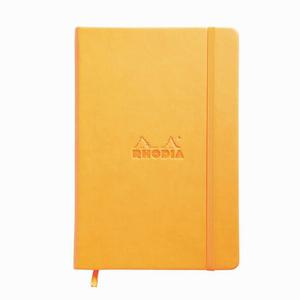 Rhodia - Rhodia Webnotebook Hardcover Deri Kapak A5 Dot (Noktalı) Defter Turuncu 7685