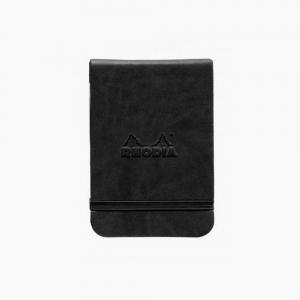 Rhodia - Rhodia Webnotepad Hardcover Deri Kapak A7 Dot (Noktalı) Defter Siyah 2994